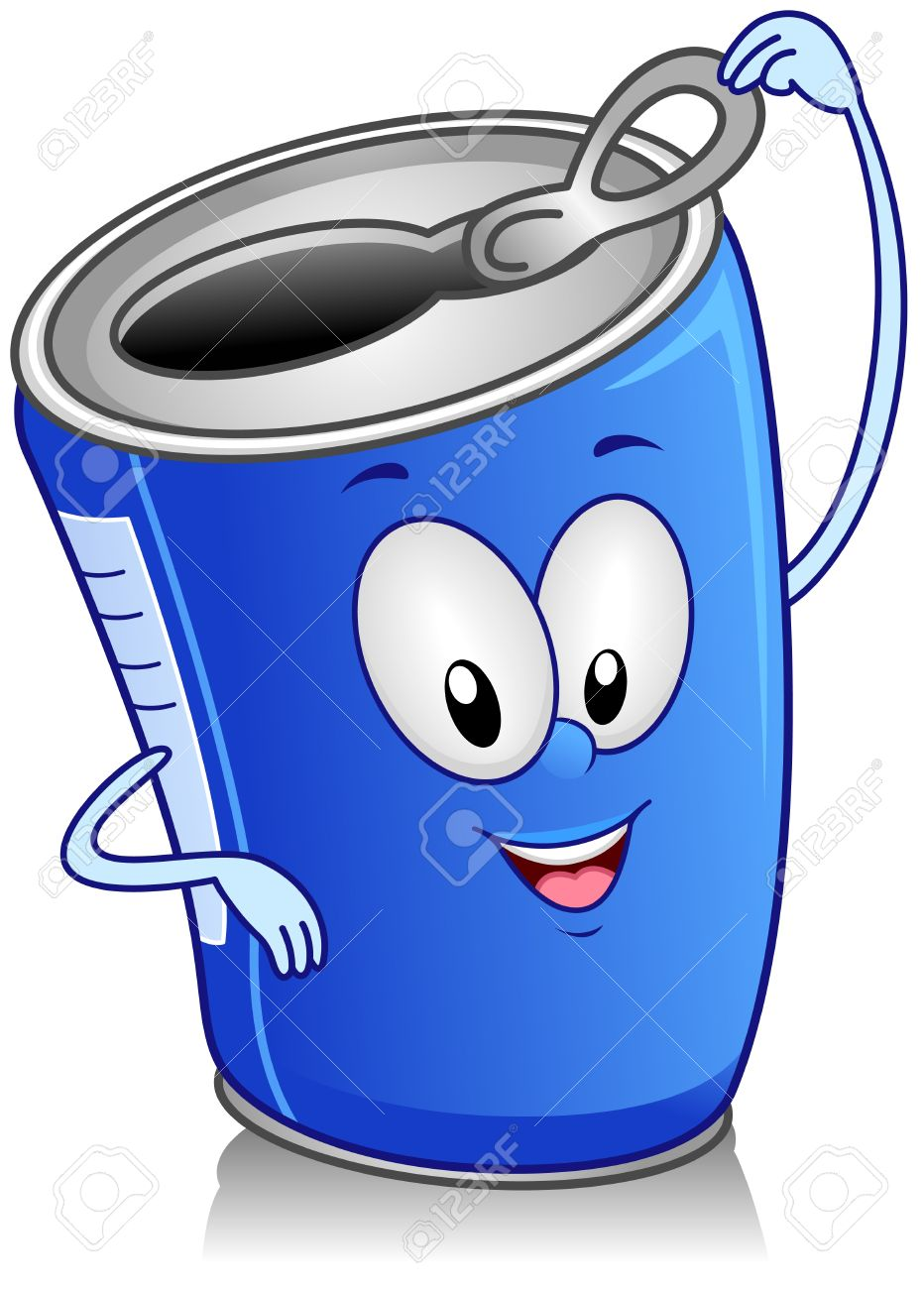 Illustration Of Canned Drink Character Stock Photo, Picture And ...