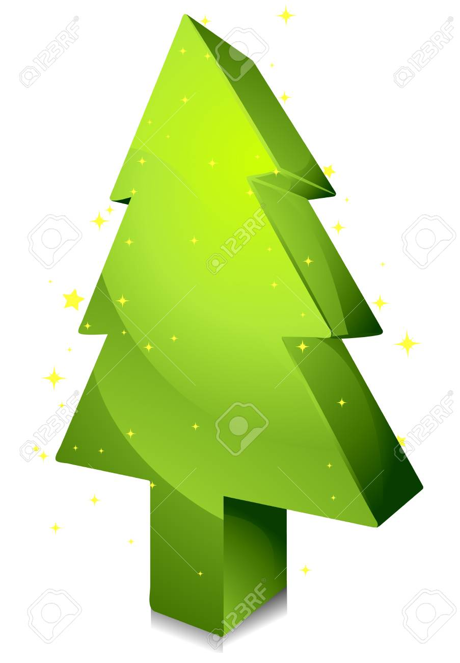 Isometric Christmas Tree Design against white Background Stock Photo - 8360806