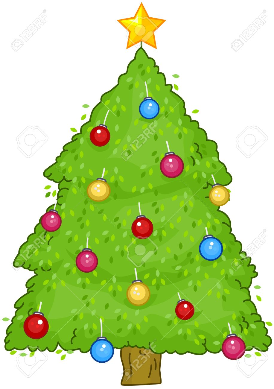 christmas design featuring a small christmas tree with shiny decorations stock photo 8360860