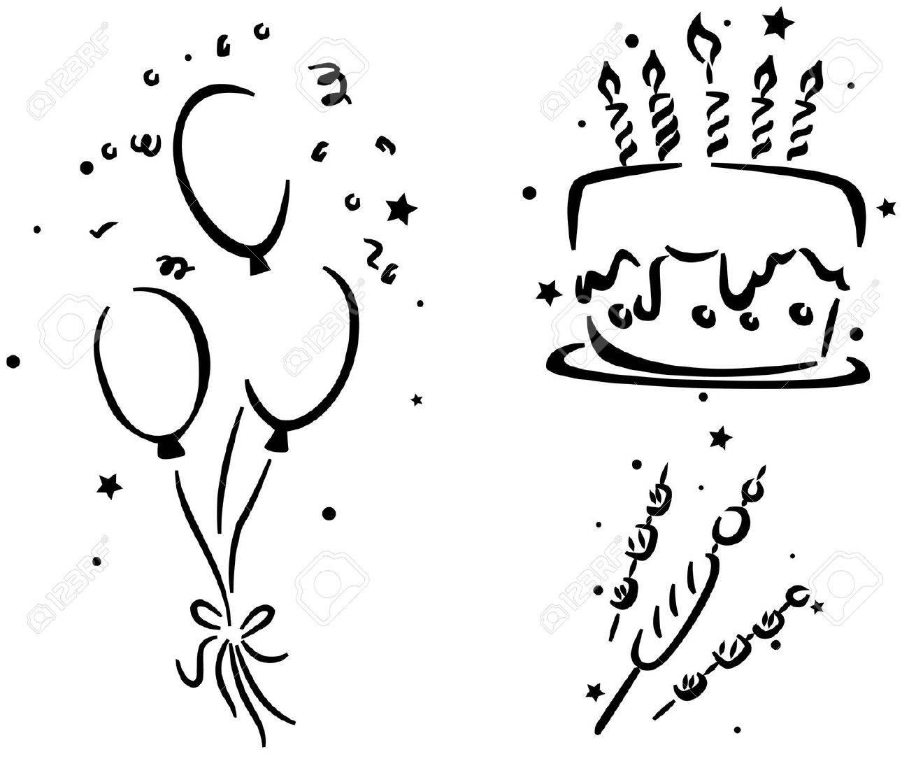 Galería De Símbolos De Cumpleaños Con Un Pastel De Cumpleaños ...