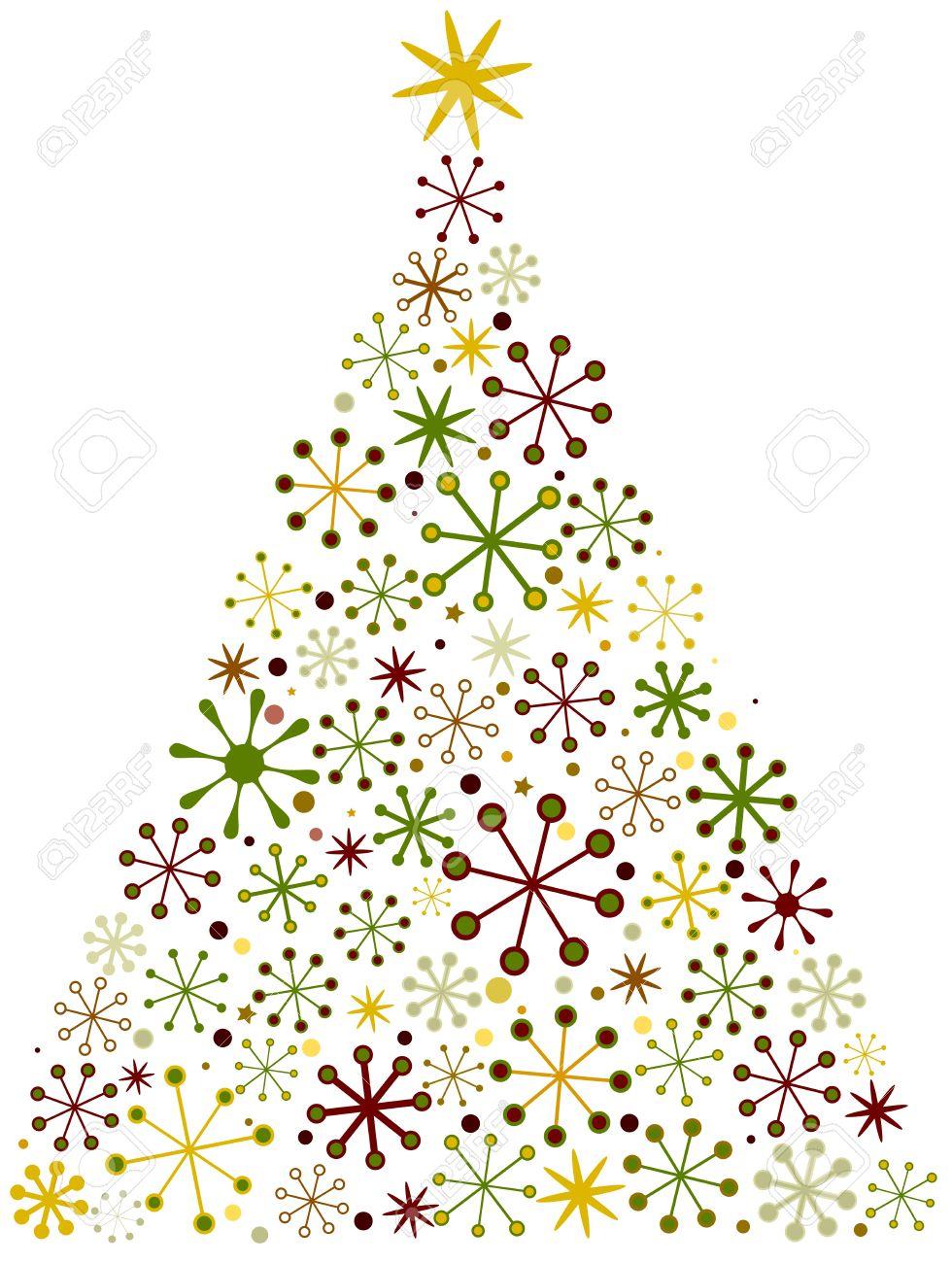 christmas tree design with a retro look stock photo 8492539 - Retro Christmas Tree