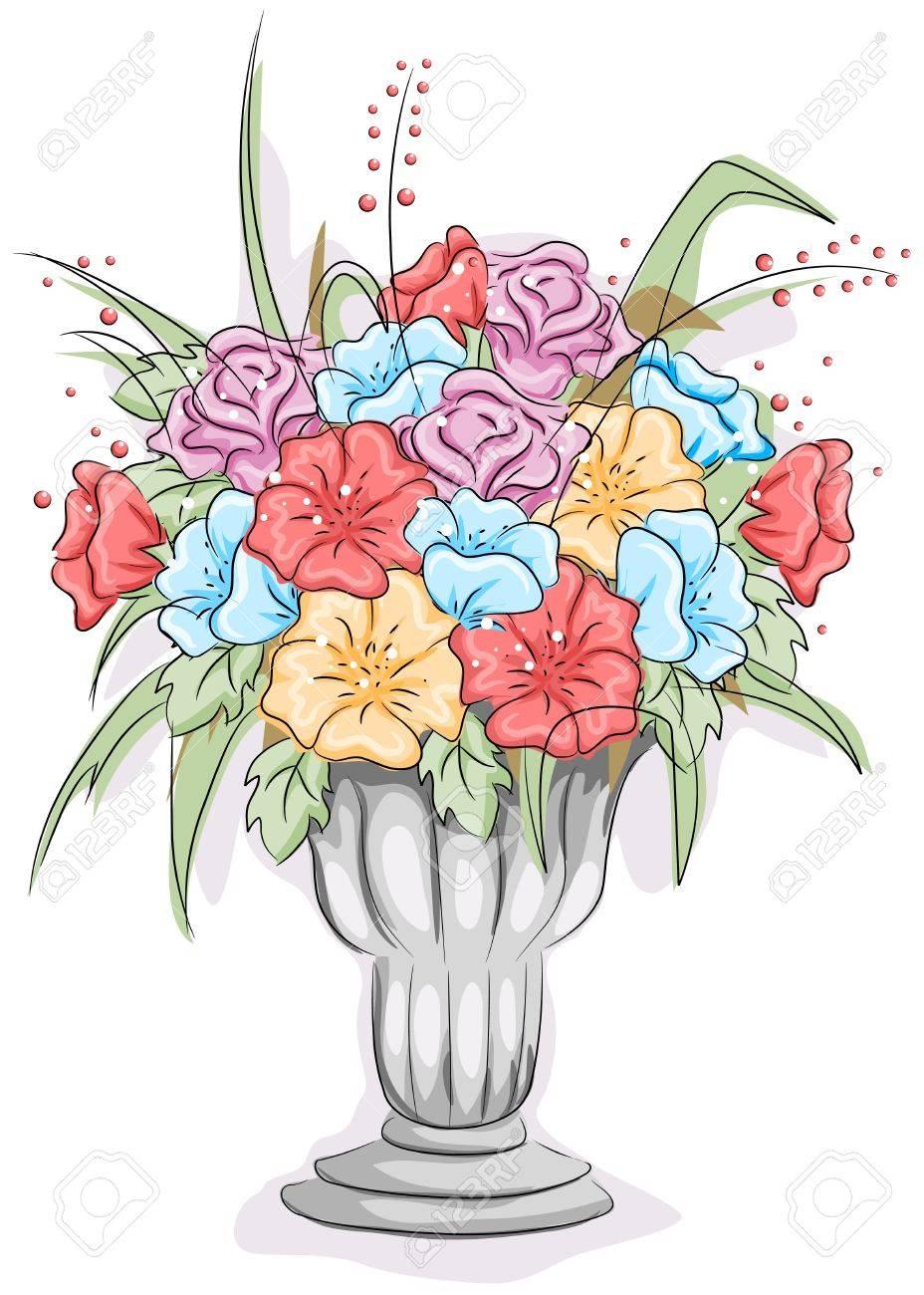 Illustration of a vase full of flowers stock photo picture and illustration of a vase full of flowers stock illustration 8550085 reviewsmspy
