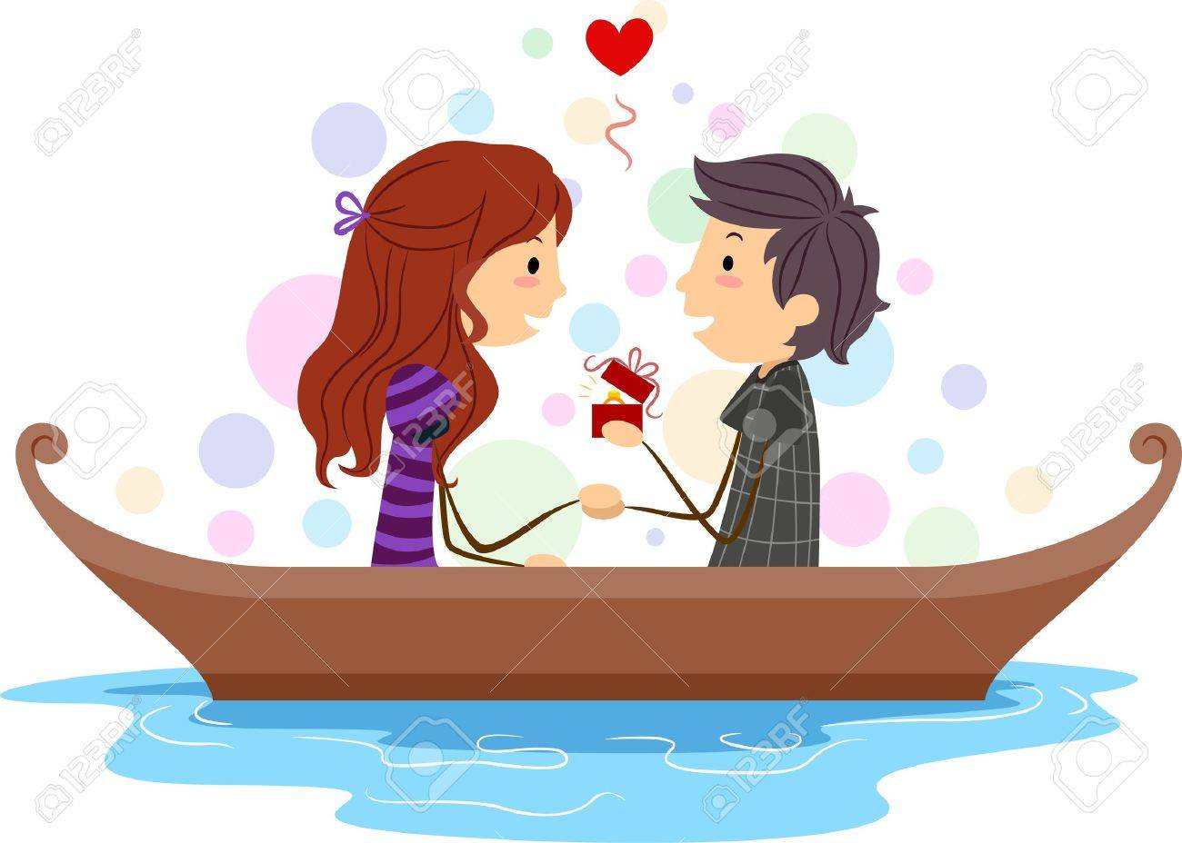 Illustration of a Stick Figure Guy Proposing to His Girl Stock Illustration - 8635524