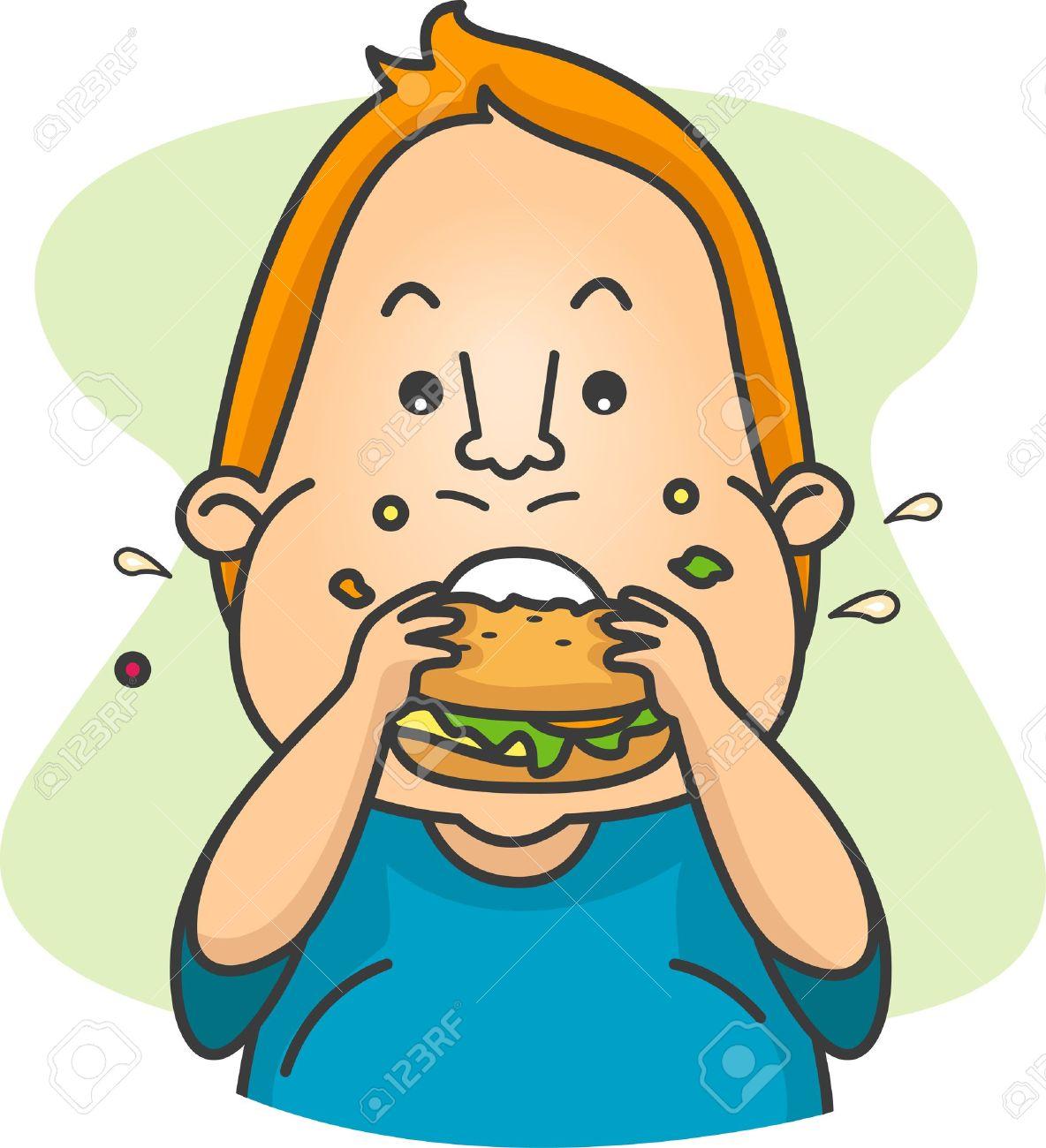 ハンバーガーを食べる人のイラスト の写真素材画像素材 Image 8906254