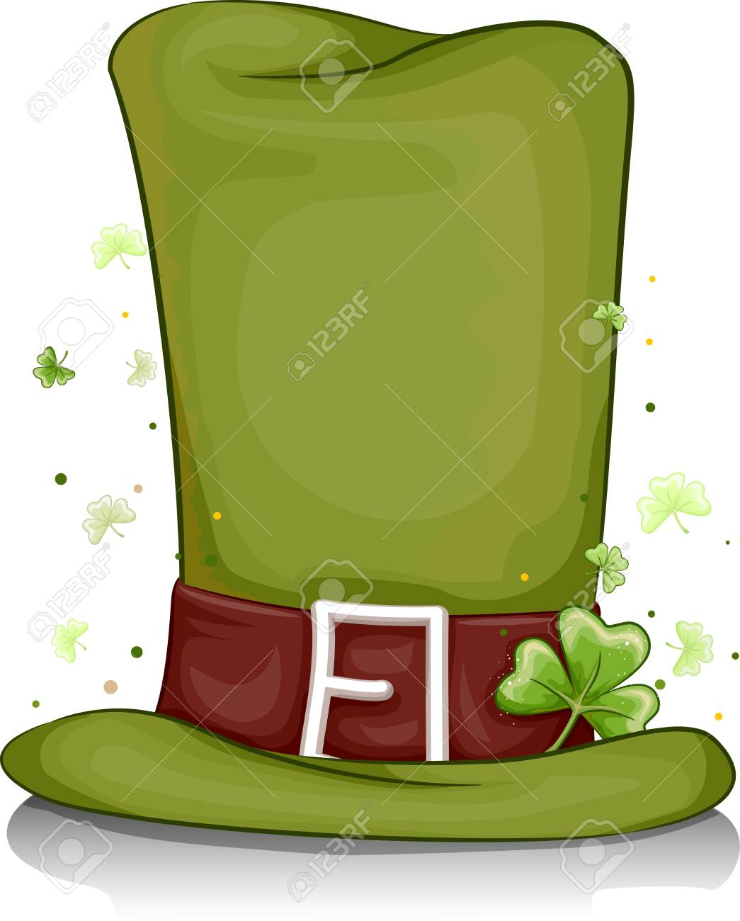 Illustration of a Leprechaun's Hat for Background Stock Photo - 8993595