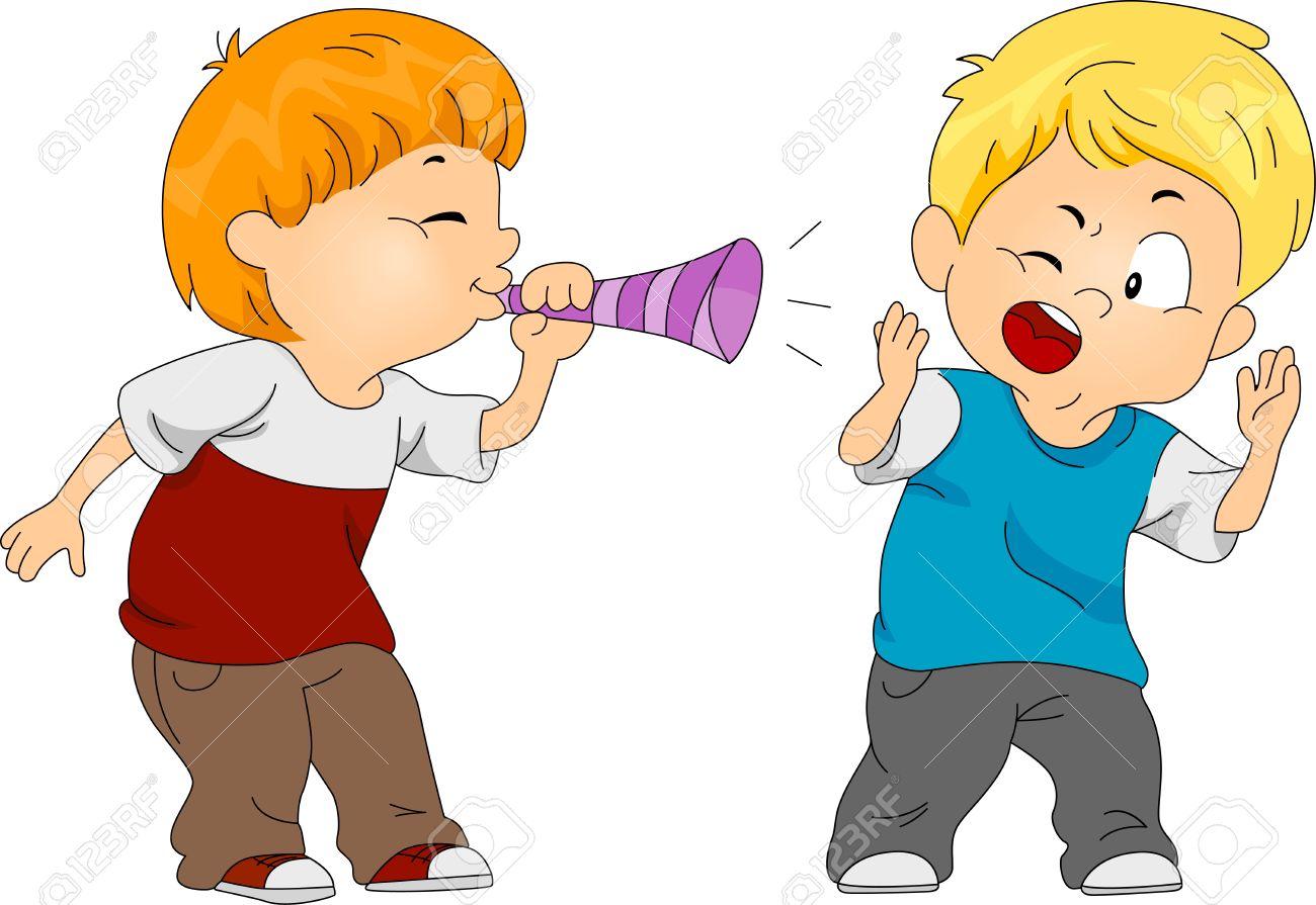Illustration of a Boy Pulling a Prank on Another Boy Stock Illustration - 9307254