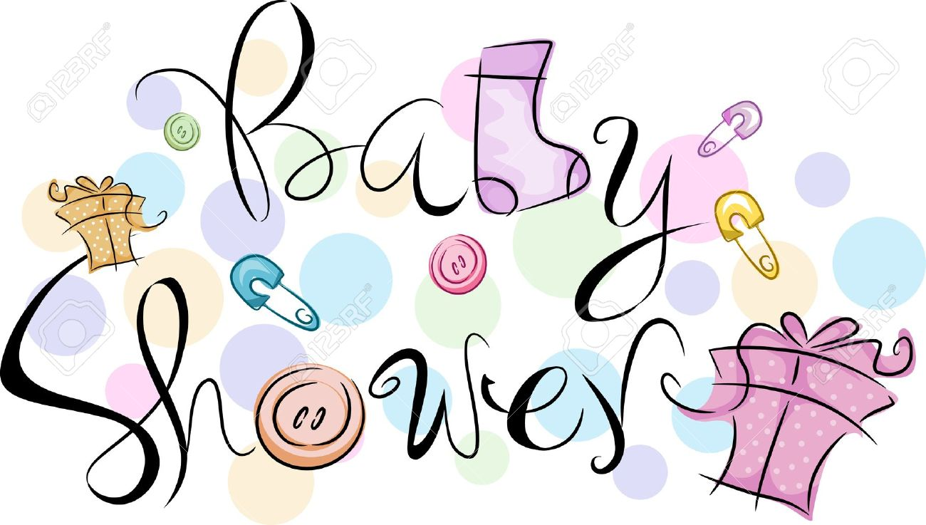 Stock Photo Text Featuring The Words Baby Shower