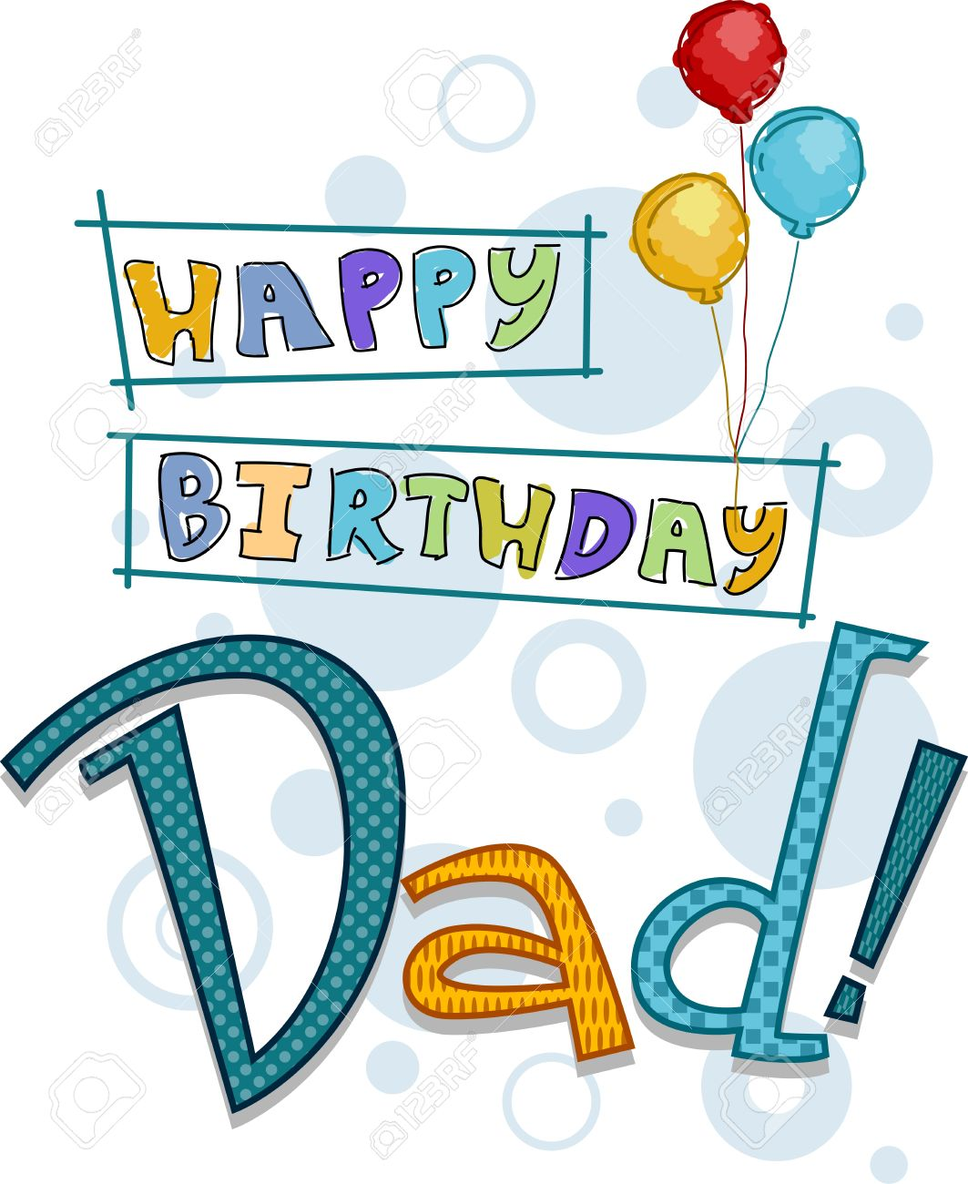 Text Featuring Birthday Greetings For Dad Stock Photo Picture And
