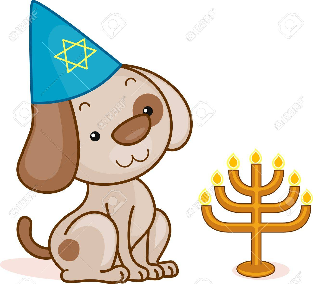 illustration of a dog celebrating passover stock photo picture