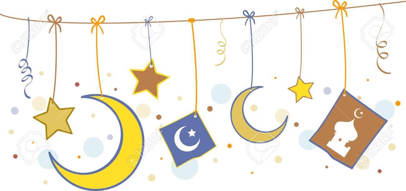 Illustration of Islamic Symbols Stock Illustration - 9707196