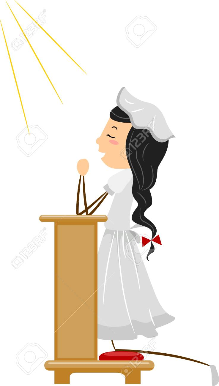 Illustration of a Praying Christian Stock Photo - 9707181