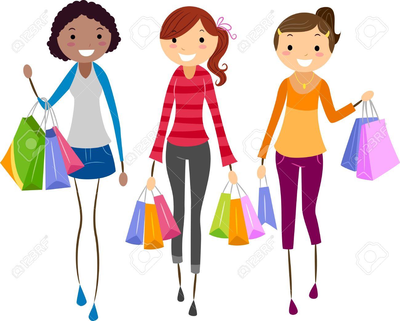 Image result for shopper cartoon