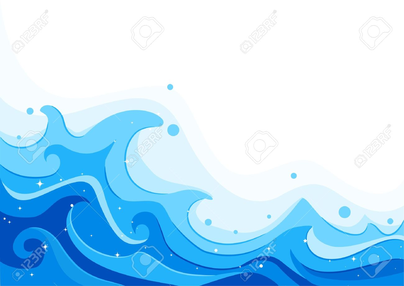Illustration of Giant Sea Waves Stock Photo - 9781865
