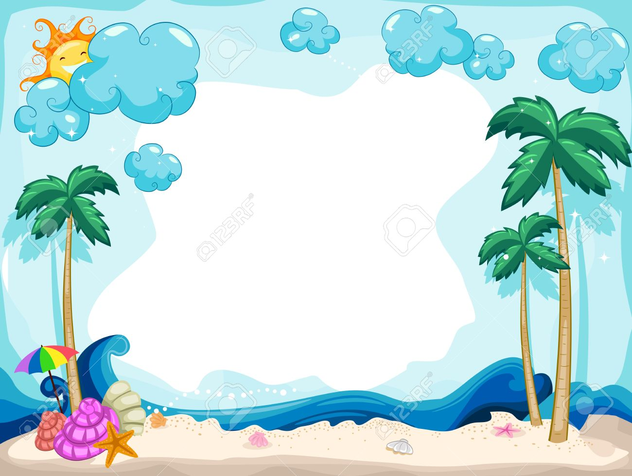 Background Illustration With A Summer Theme Stock Photo Picture And