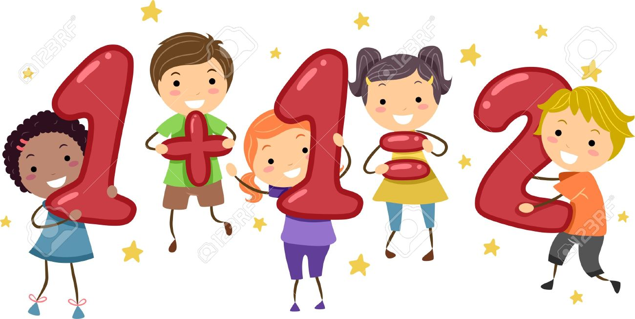 Illustration Of Kids Holding Number-Shaped Objects Stock Photo ...