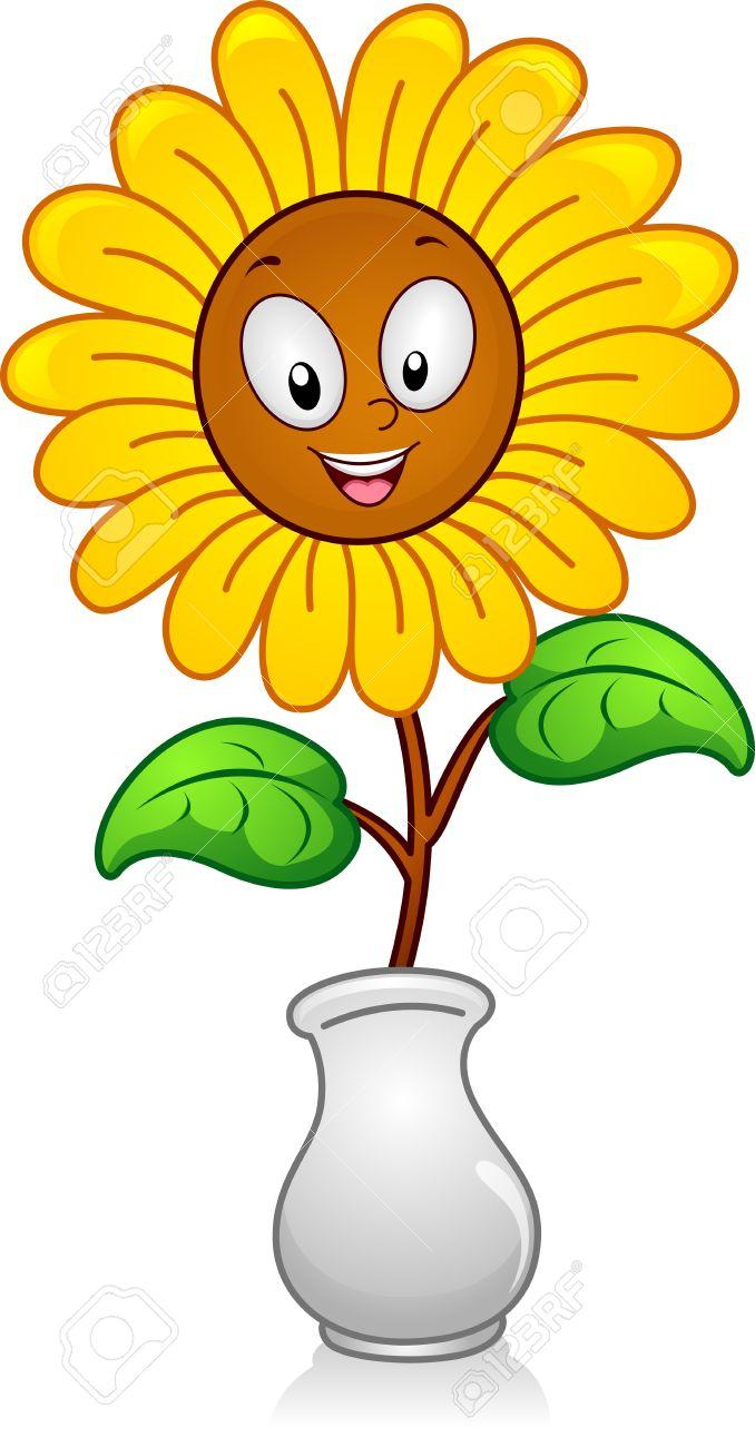 of a yellow flower in a flower vase - Flower Vase