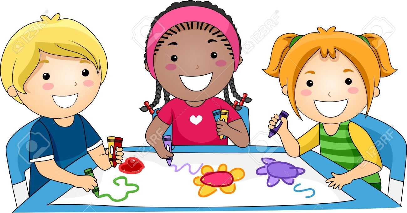 illustration of kids drawing stock photo picture and royalty free rh 123rf com coloring clip art flowers coloring clip art flowers