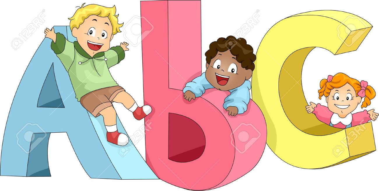 Illustration of Kids Playing with ABC's Stock Illustration - 10433005