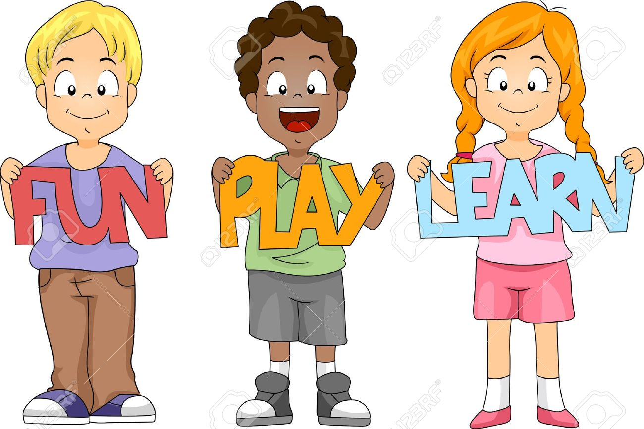 illustration of children holding cutouts stock photo picture and