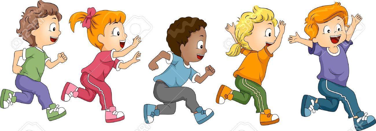 illustration of kids participating in a marathon stock photo rh 123rf com Running Shoes Clip Art Dance Clip Art