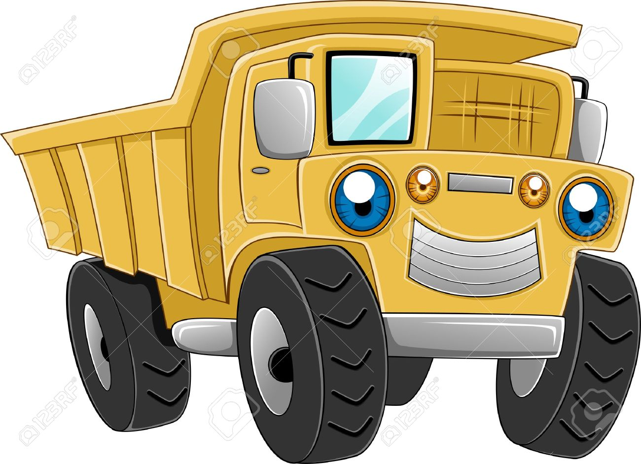 illustration of a happy dump truck stock photo picture and