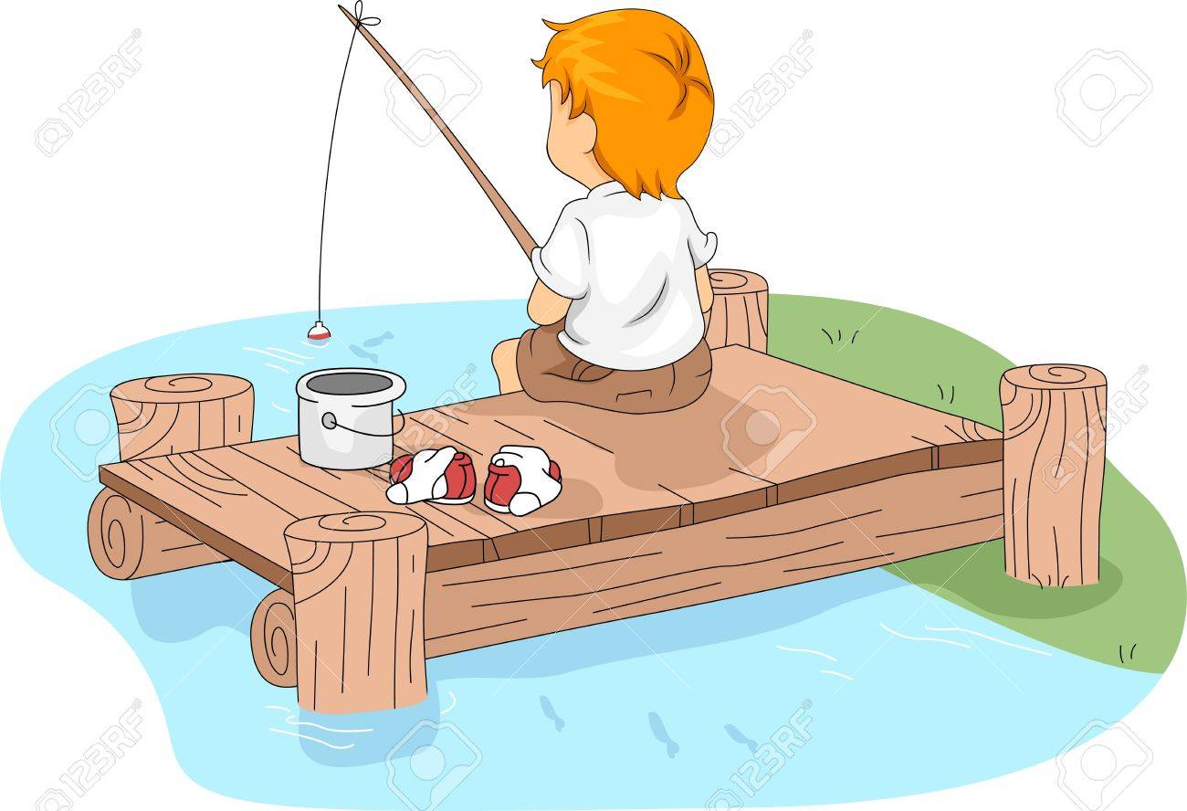 illustration illustration of a kid fishing - Cartoon Kid Images