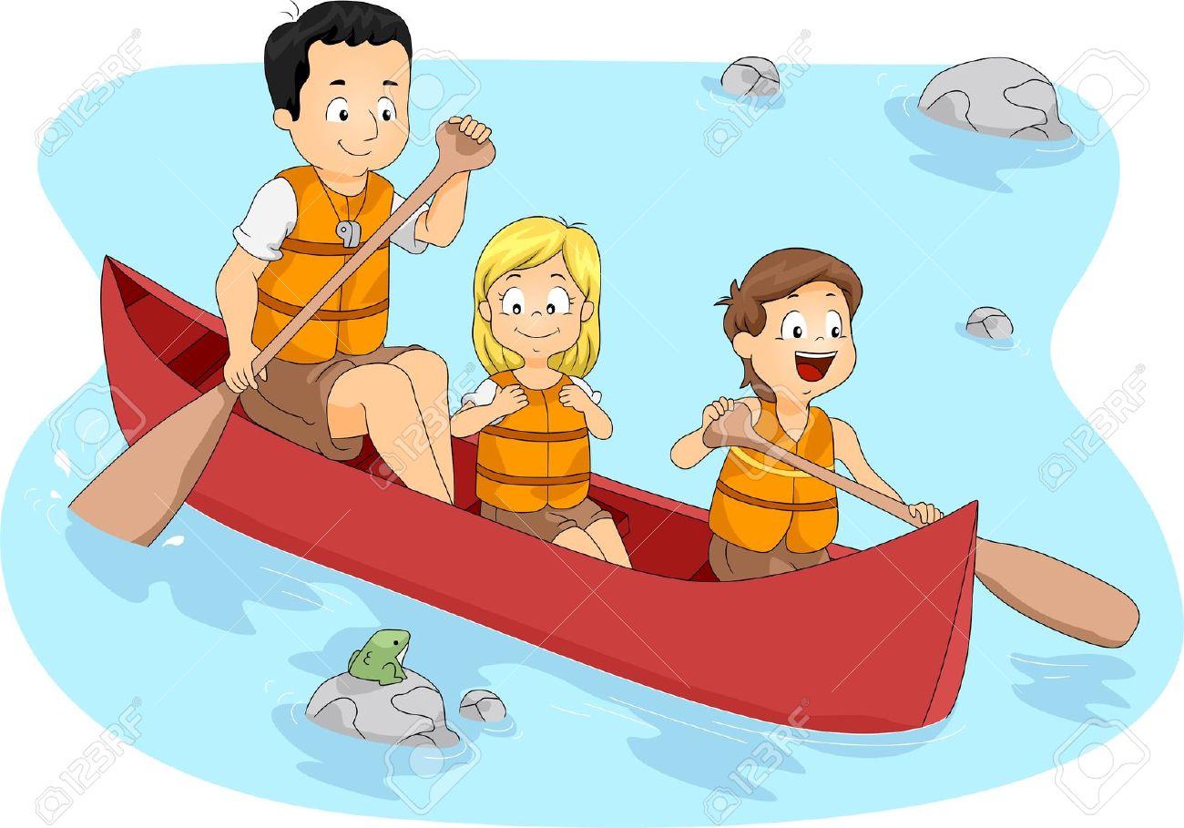 туристы гребли на лодке