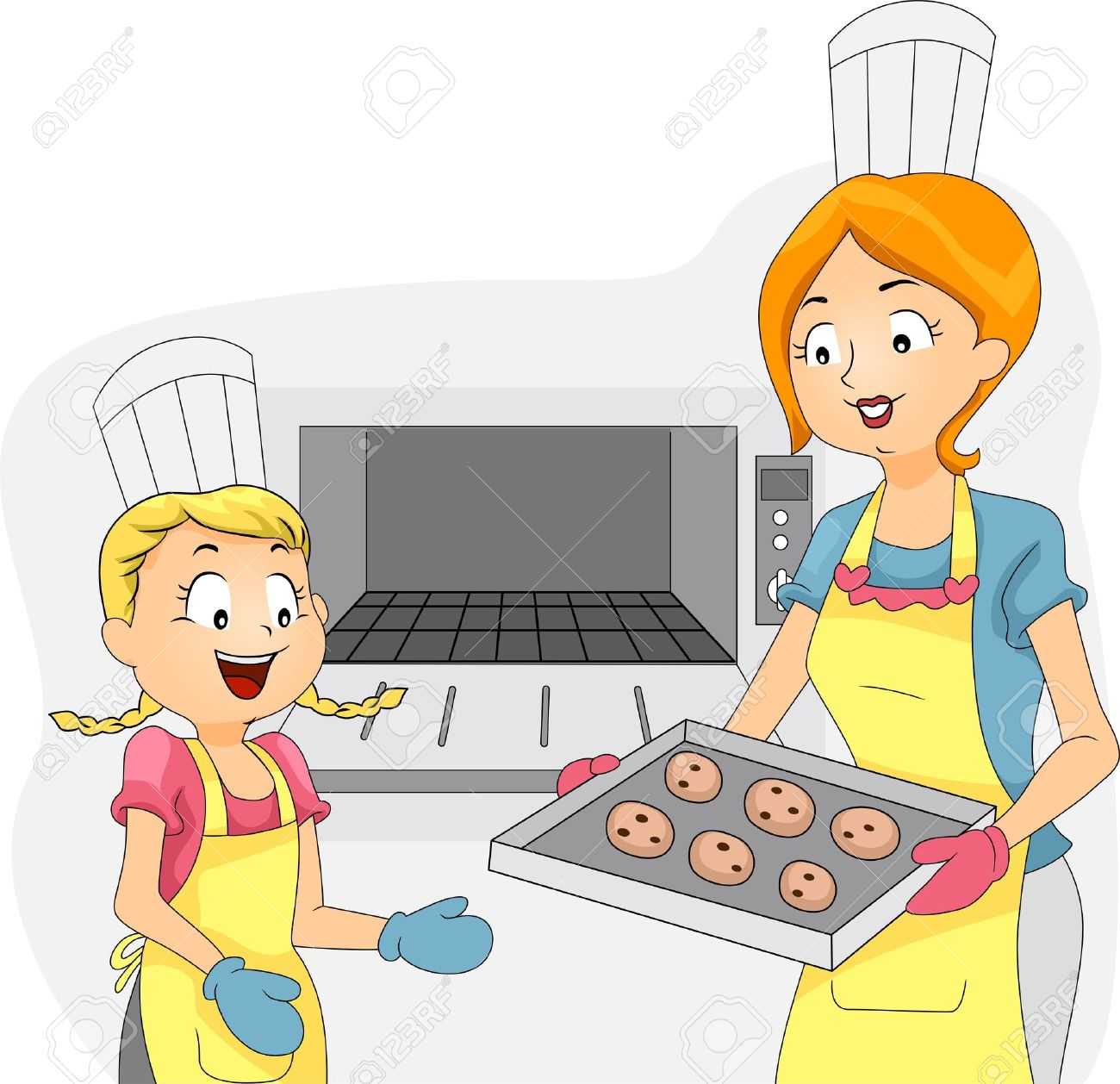 Illustration of a Kid Helping Out with the Baking Stock Photo - 10823969