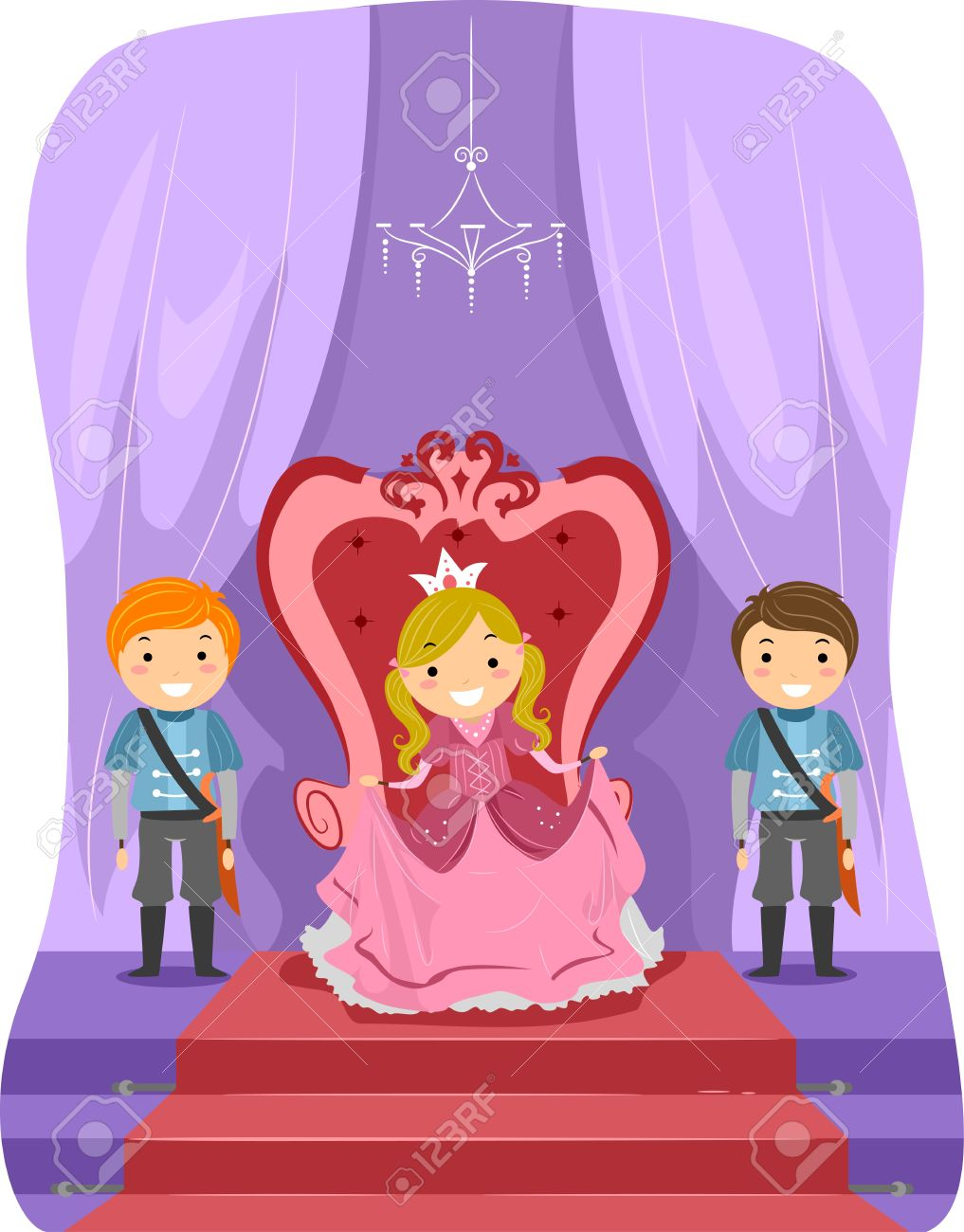 Illustration of a Girl Dressed as a Princess Stock Photo - 11197748