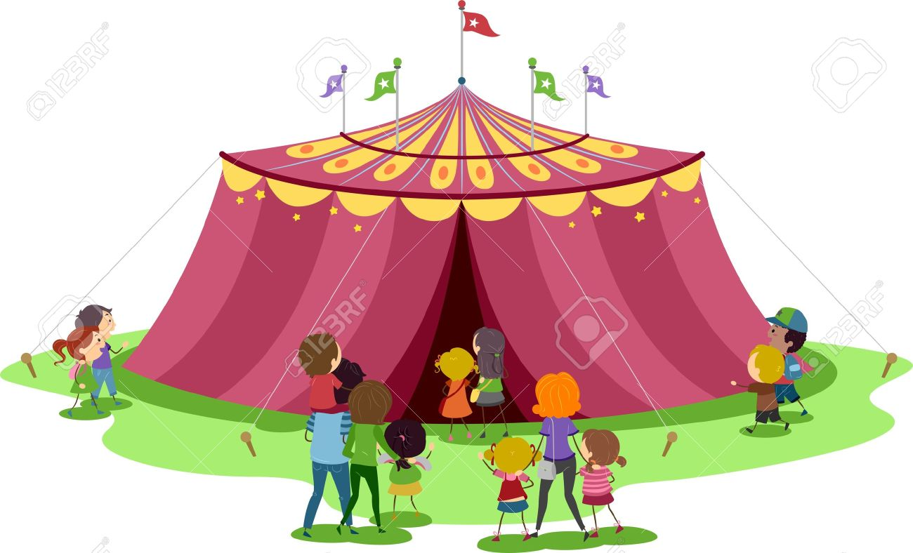 Illustration of Families About to Go Inside a Circus Tent Stock Illustration - 11197734  sc 1 st  123RF.com & Illustration Of Families About To Go Inside A Circus Tent Stock ...