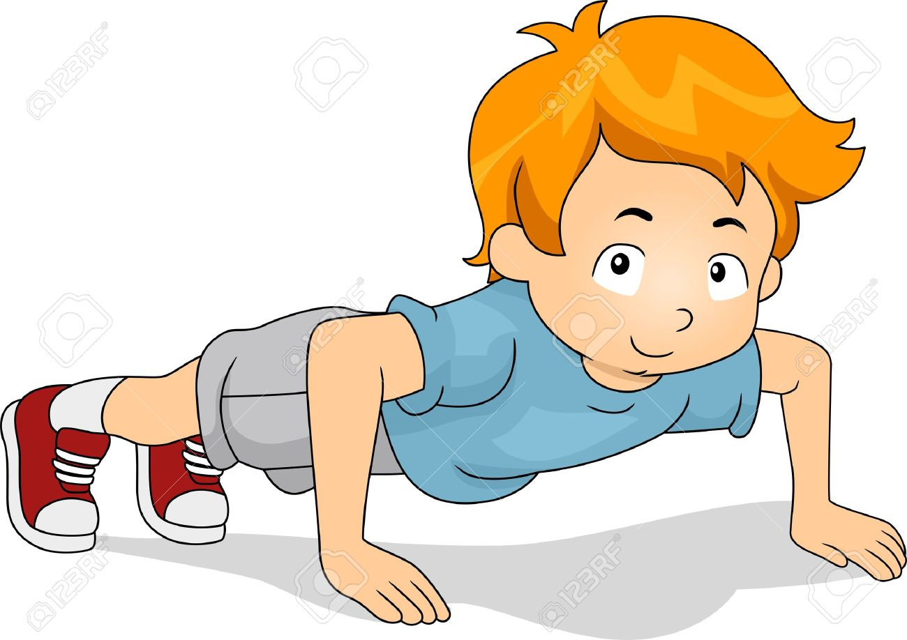 illustration of a kid doing pushups stock illustration 11330140 - Cartoon Picture Of A Child