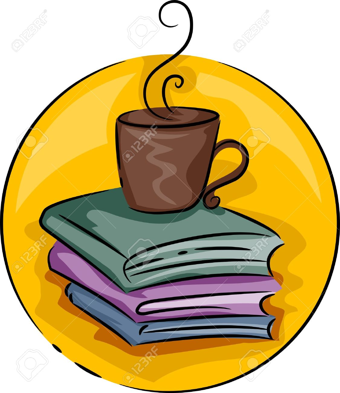 icon illustration of coffee table books stock photo picture and