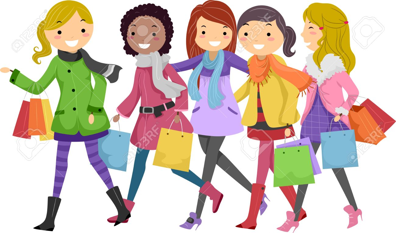 Bff Pictures Cartoon Out Shopping  friendship