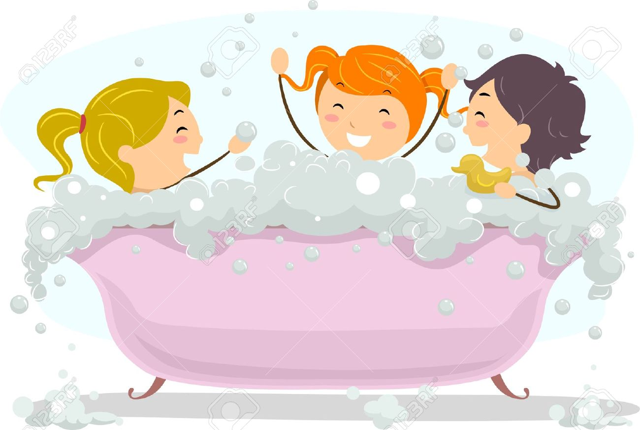 Illustration Of Kids Celebrating Bubble Bath Day Stock Photo Picture And Royalty Free Image Image 12106986