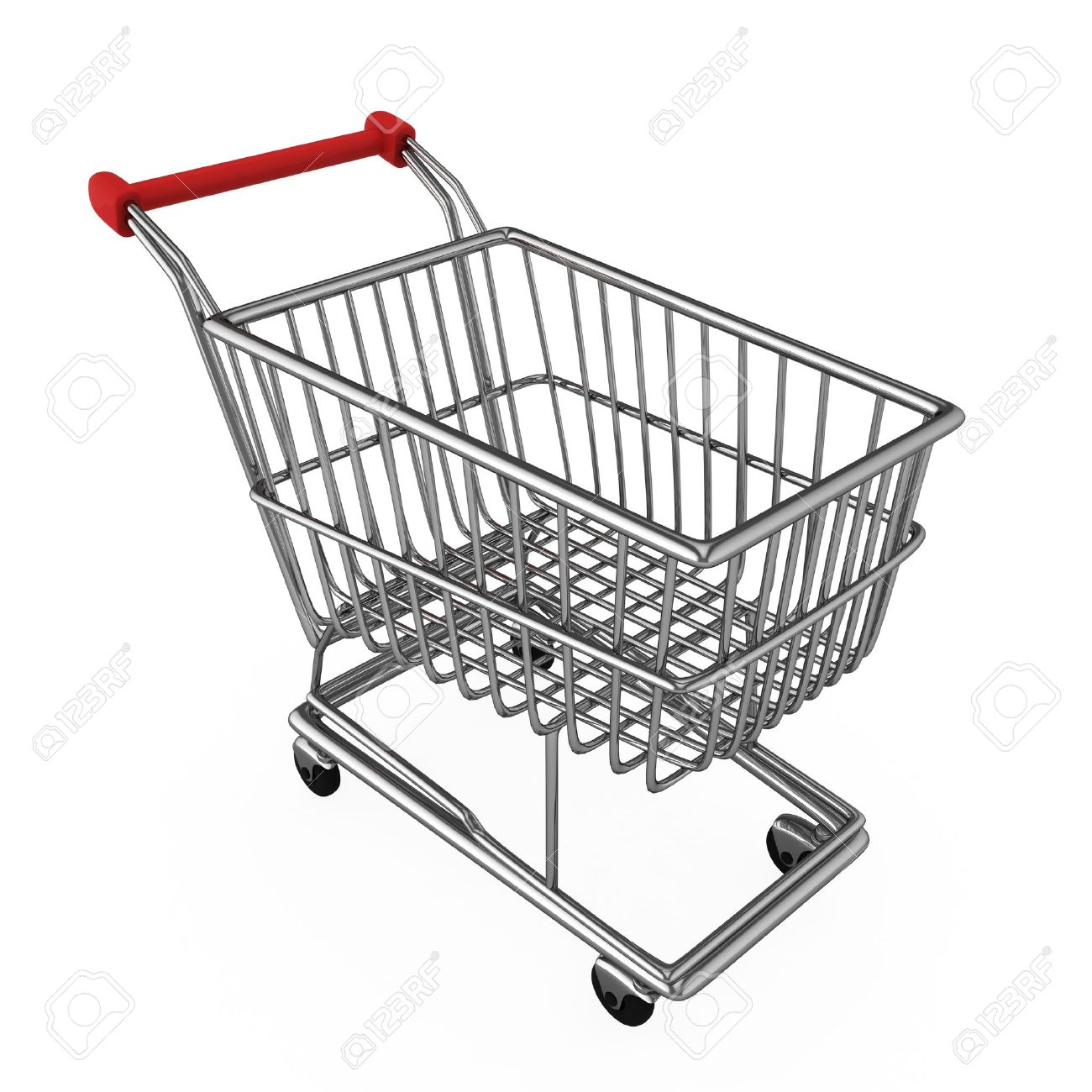 3d illustration of a shopping cart stock photo picture and royalty