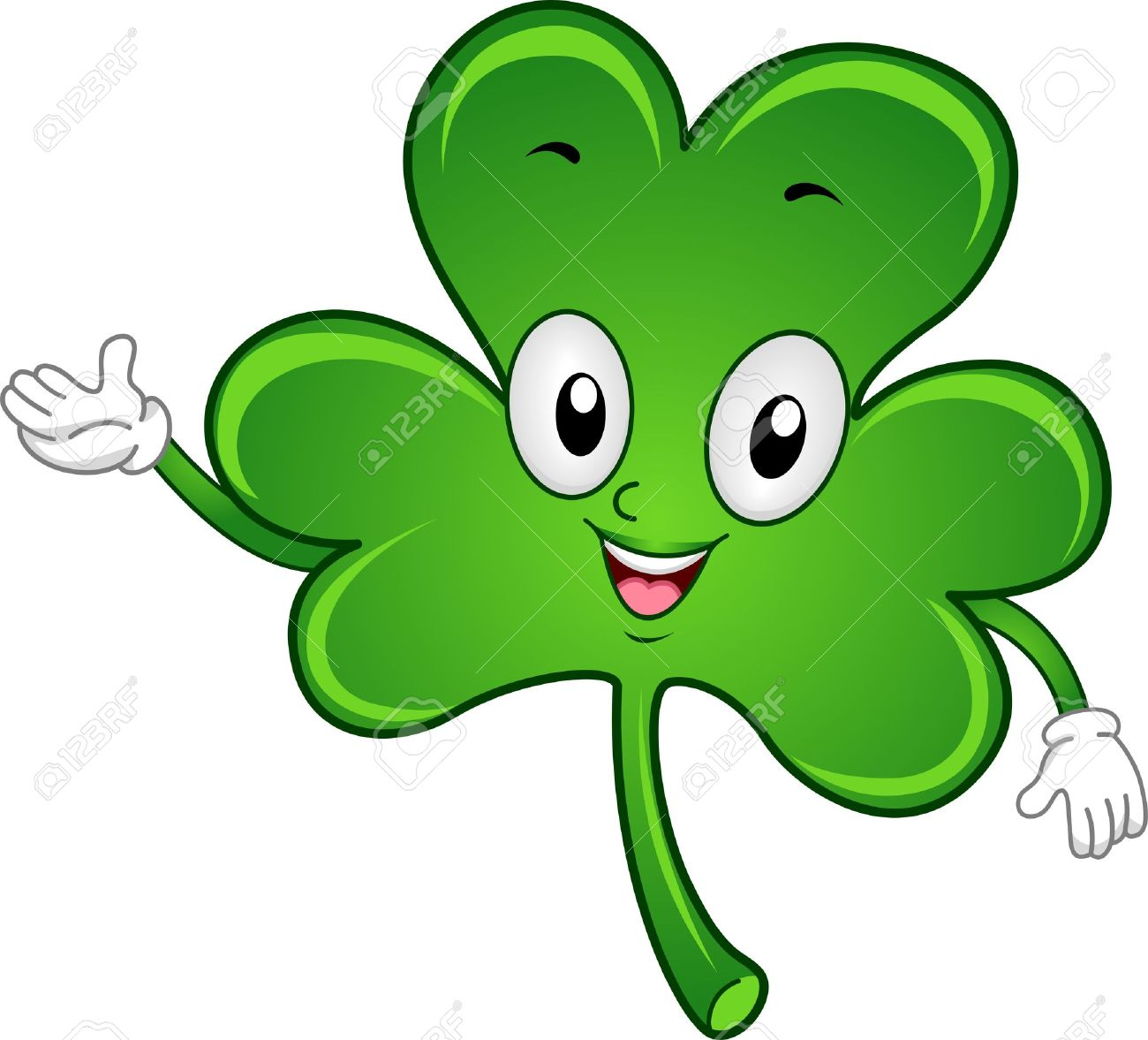illustration of a shamrock mascot stock photo picture and royalty
