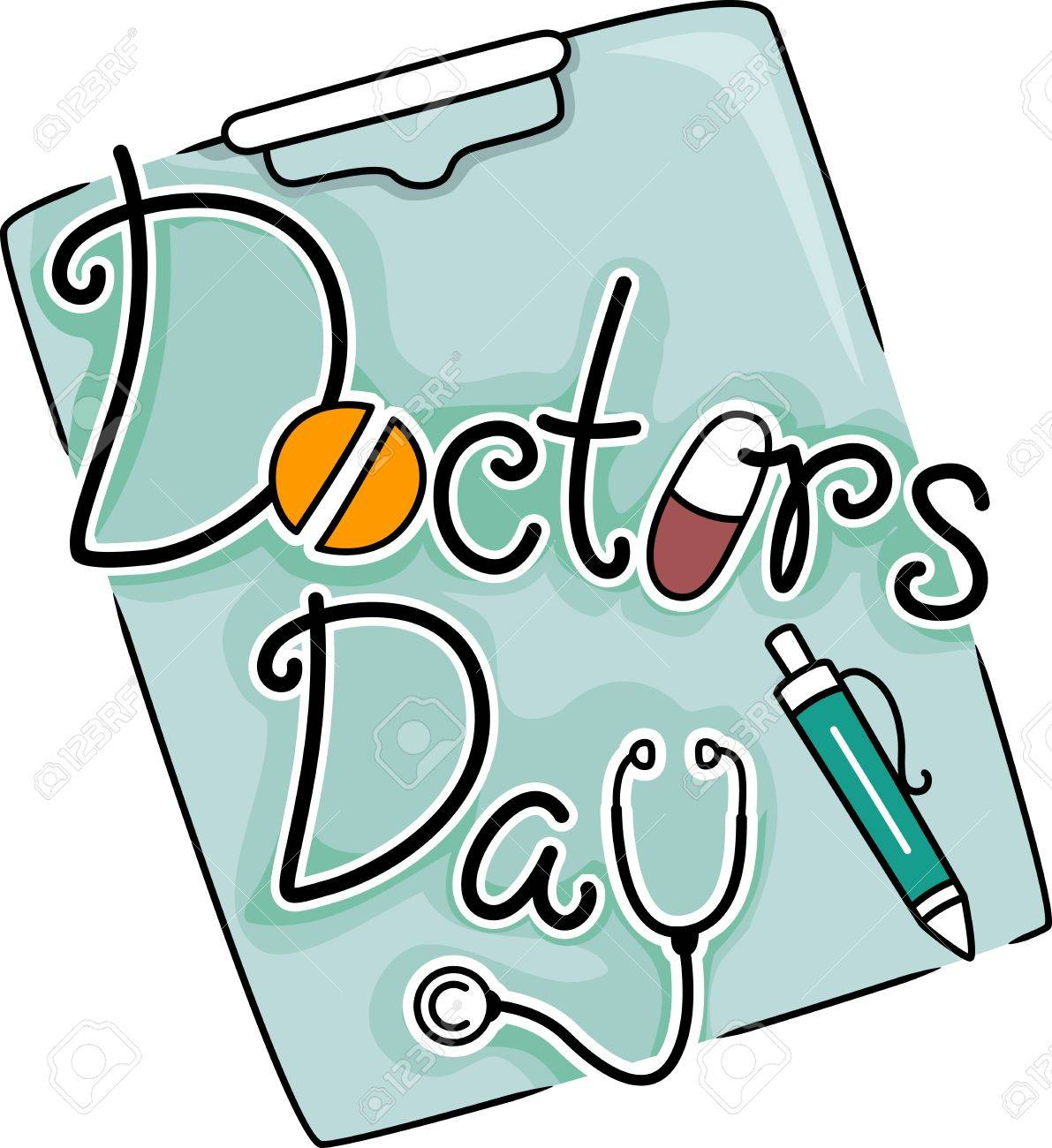 Coloring pages for doctors day - Doctor Cartoon Text Illustration Celebrating Doctors Day