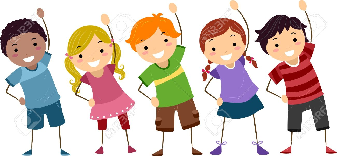 Image result for kids stretching clipart
