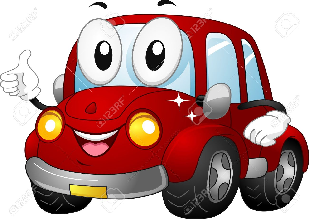 illustration of a car mascot giving a thumbs up stock photo picture rh 123rf com clipart of a carrot clipart of a cat