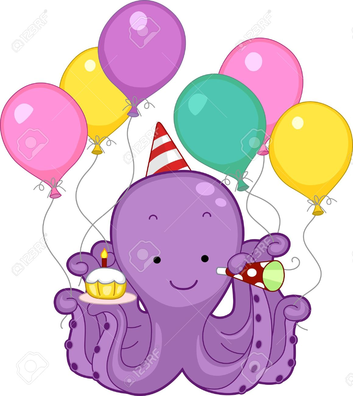 12917514-Illustration-of-an-Octopus-Cele