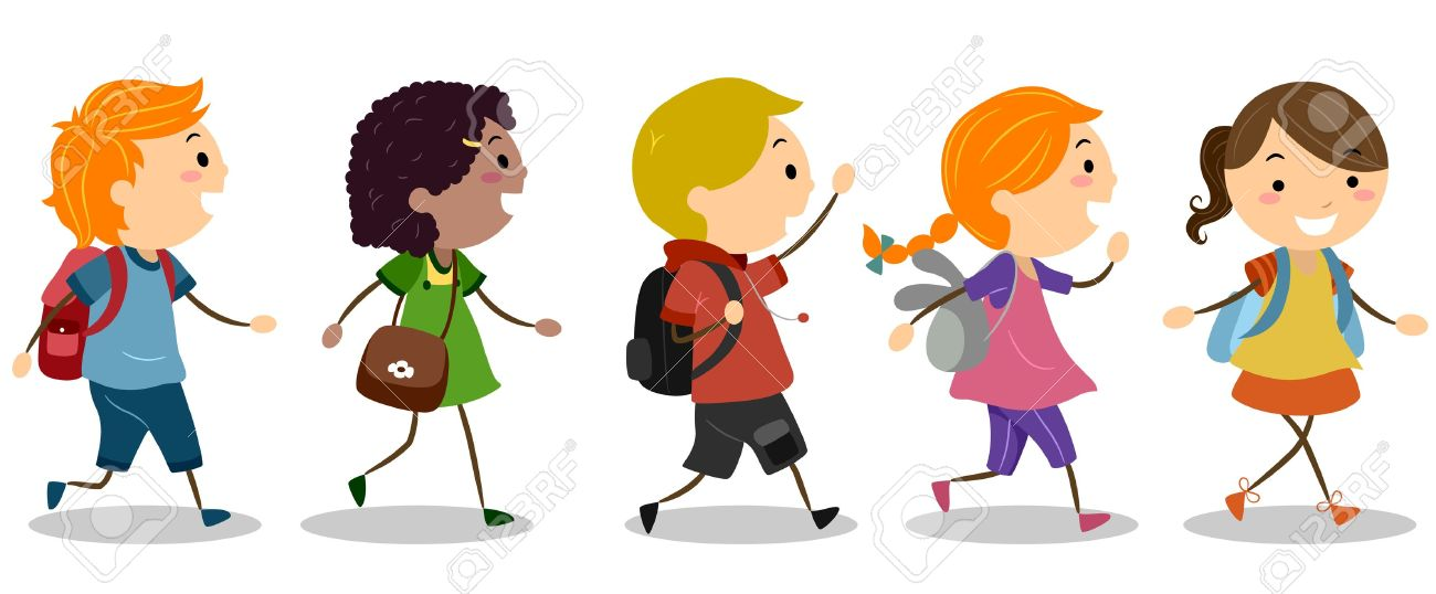 Illustration of Kids Going to School Stock Illustration - 12917465