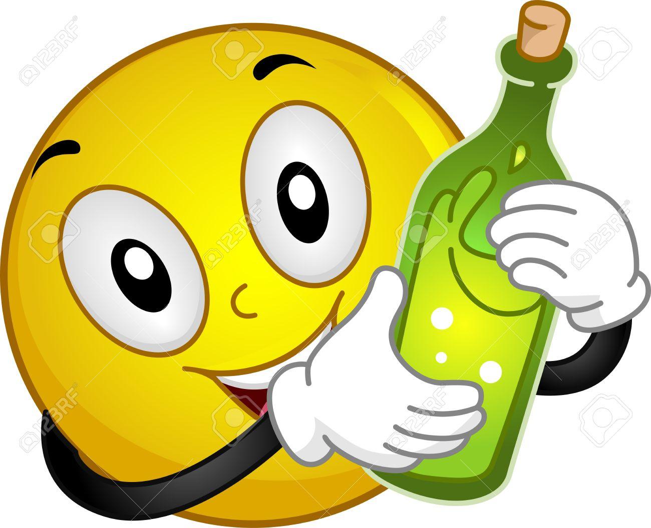 alcohol smiley Illustration Drunk Emoticon