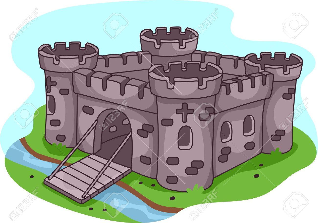 Illustration D Un Château Fort