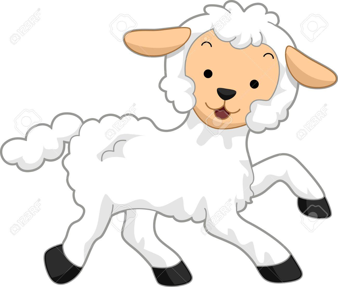 illustration featuring a happy lamb stock photo picture and royalty rh 123rf com clipart lamb faces clip art lamb of god