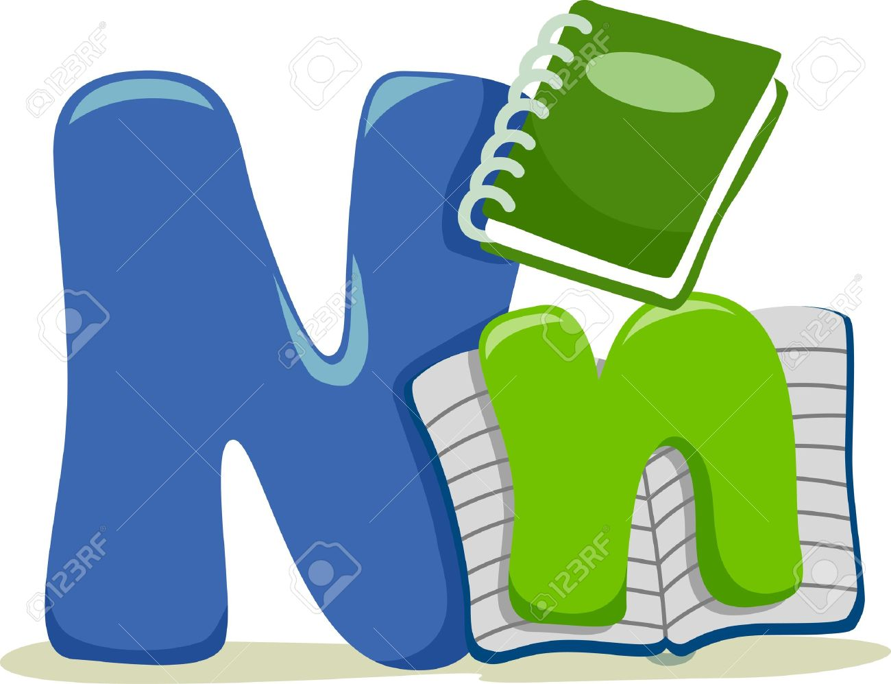 Illustration Featuring the Letter N Stock Illustration - 13898687