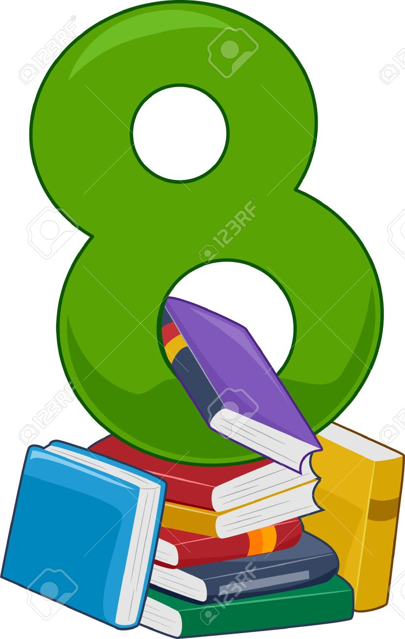 illustration featuring the number 8 stock photo picture and royalty rh 123rf com Number 3 Clip Art number 8 clipart free
