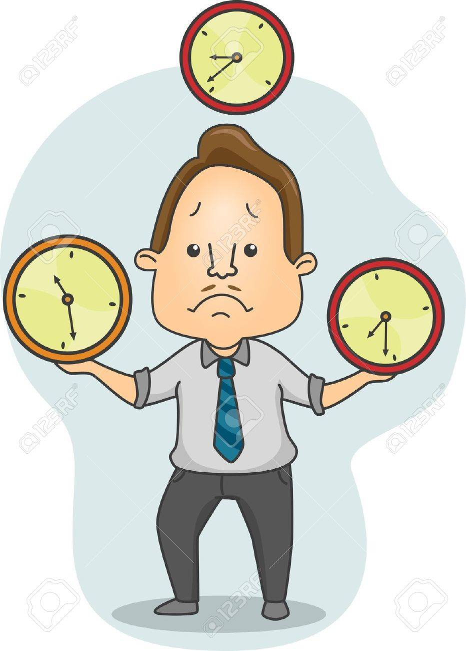 Illustration of a Man Juggling Time Stock Photo - 14039390
