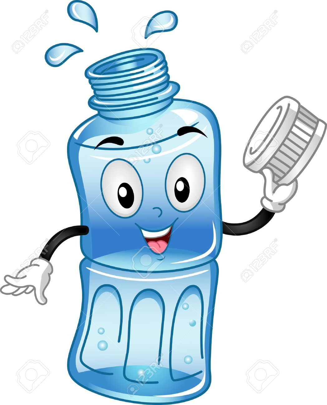 mascot illustration featuring a water bottle stock photo picture rh 123rf com water bottle clipart transparent water bottle clipart free