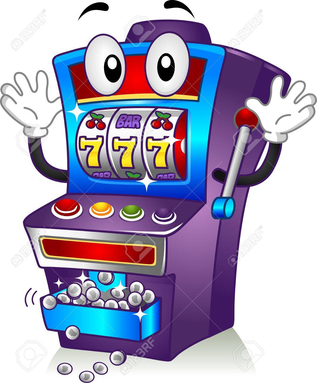 Slot Machine Jackpot Cartoon Pics