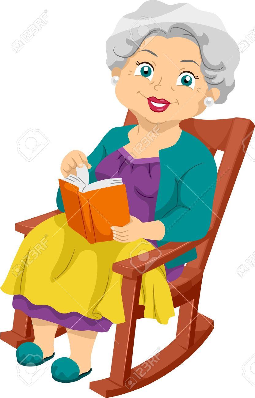 Frau im liegestuhl clipart  Frau Auf Stuhl Lizenzfreie Vektorgrafiken Kaufen: 123RF